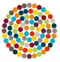 Grafik zeigt Punkte innerhalb eines Kreises