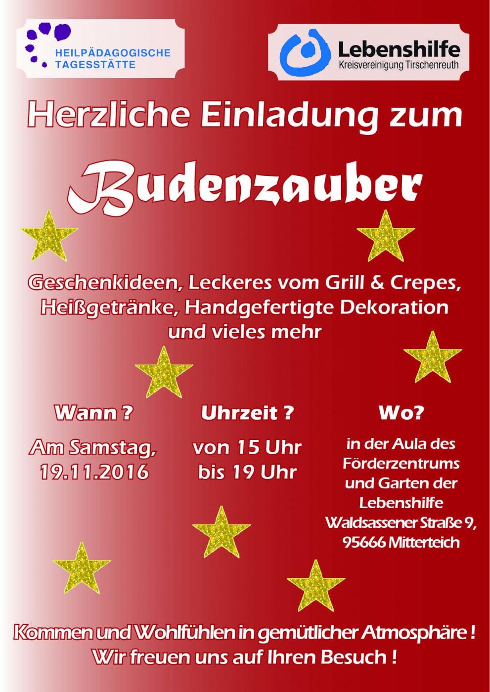 Plakat des Budenzaubers