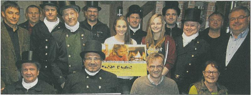 Bild von der Spendenübergabe